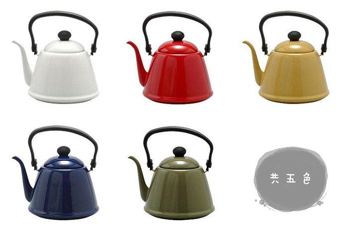 【東京速購】日本製 野田琺瑯 咖啡壺 細口手沖壺 琺瑯壺2L (共五色)