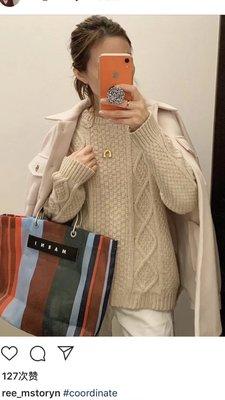 【全新正貨私家珍藏】MARNI 尼龍款彩色條紋沙灘袋 購物包((大小號))