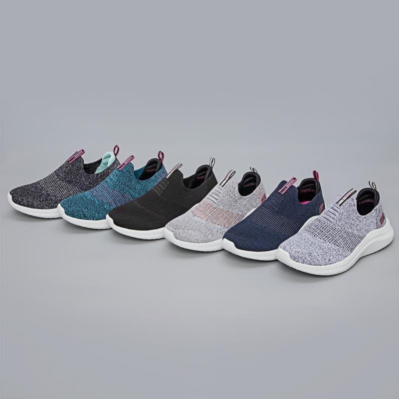 Skechers斯凱奇2020新款女子一脚蹬懶人鞋輕便透氣休閒運動鞋149181