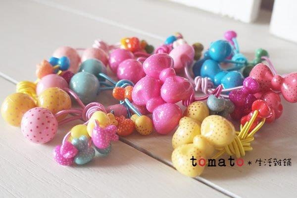 ˙TOMATO生活雜鋪˙韓國進口兒童雜貨立體蝴蝶小兔子點點彩色髮束