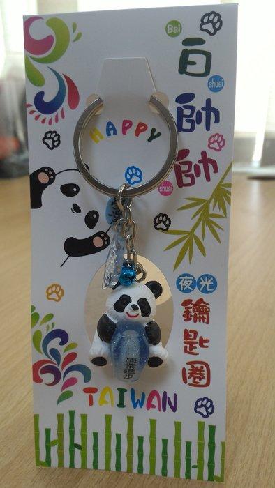 超萌超可愛熊貓天燈鑰匙圈-學業進步(藍)