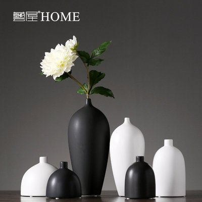 〖洋碼頭〗現代簡約陶瓷幹花花瓶擺件家居客廳餐廳創意插花器樣板房軟裝飾品 ywj248