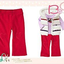 【B& G童裝】正品美國進口Crazy8 愛心圖樣紅色刷毛長褲2,3yrs