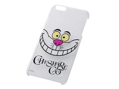 尼德斯Nydus~* 日本 迪士尼 愛麗絲夢遊仙境 笑笑貓 硬殼 手機殼 透明 大臉款 5.5吋 iPhone6+