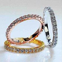 大牌線戒套戒18K鑲嵌滿圈莫桑鑽指環 附證書求婚結婚鉆鑽求婚 結婚高仿真鑽石手飾 歐美豪華高檔戒指 莫桑鑽寶