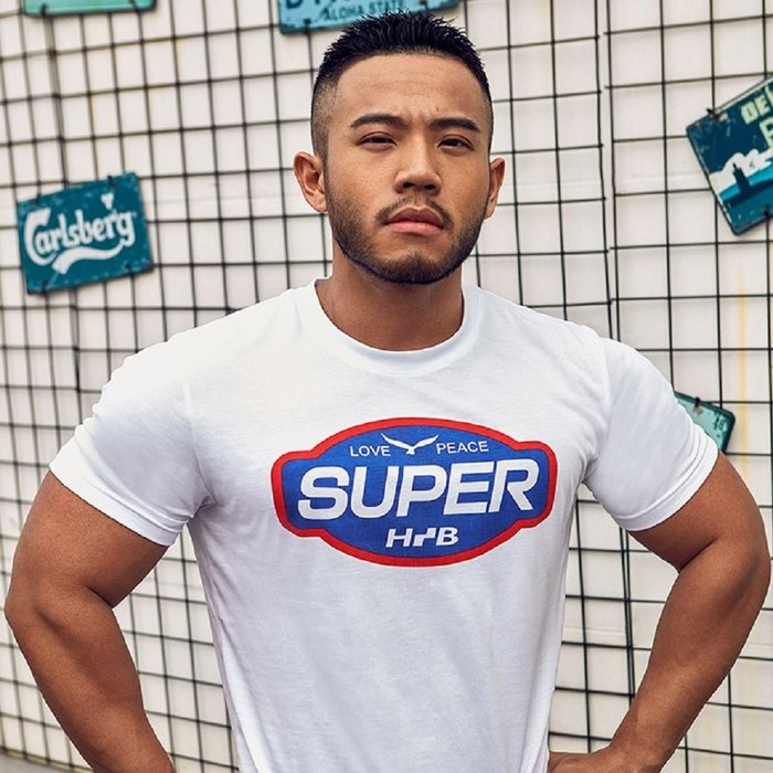 【OTOKO Men's Boutique】Hansbenny SUPER/ T恤/白色/正版(台灣獨家代理)