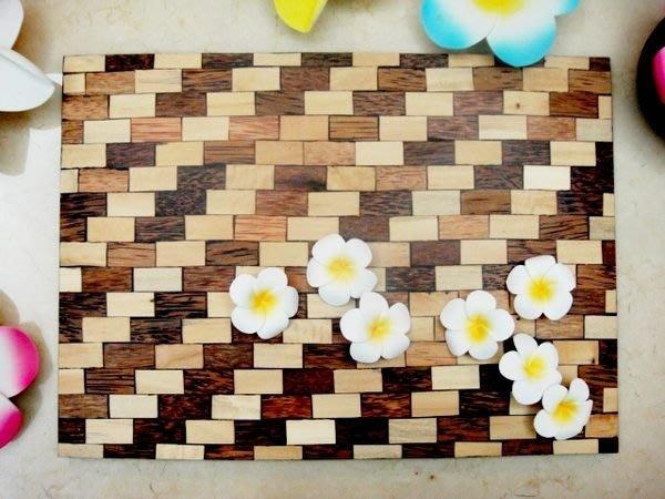 Y【永晴峇里島】巴里島風雙色斜紋木托盤/餐墊,居家,民宿,飯店都好用-托盤12@