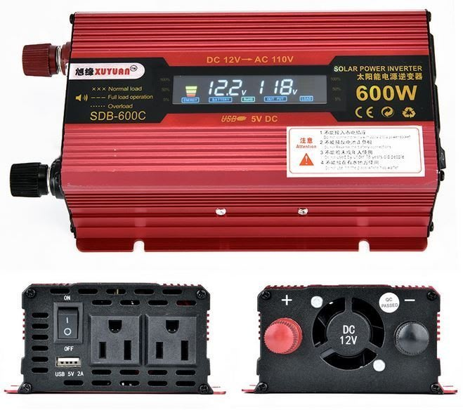 【Sun】XUYUAN 600W 修正弦波逆變器 電源轉換器 DC12V 24V 轉 AC110V