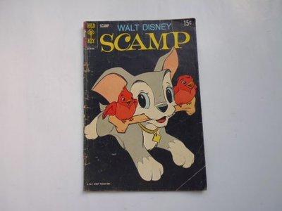 ///李仔糖舊書*1969年美國原版彩色漫畫.狄斯尼SCAMP(k506)