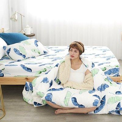 [SN]#U104#細磨毛雲絲絨3.5x6.2尺單人床包被套三件組-台灣製/天絲絨