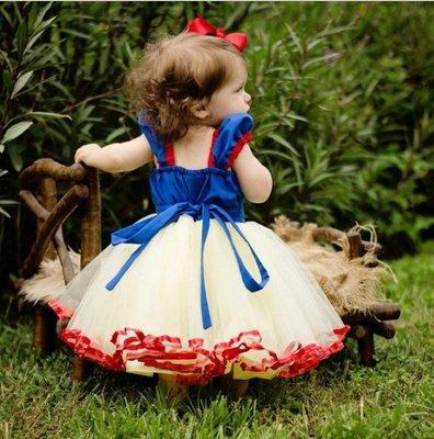 *蜜寶貝*【現貨】【48H快速出貨】中小女童-白雪公主禮服洋裝網紗連衣裙萬聖節-80-150CM 約1-8歲0013