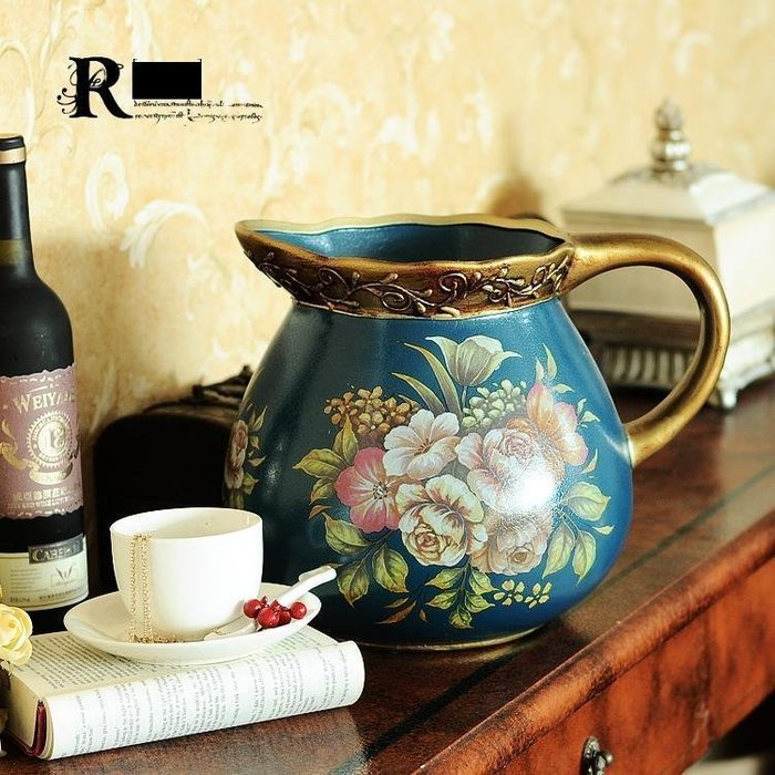 INPHIC-布洛瓦歐式奢華水壺 別墅壁爐花壺花器擺飾