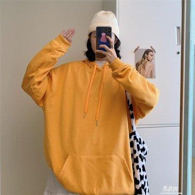 【免運】長袖上衣薄款純色連帽連帽T恤女2020年秋季新款時尚休閒百搭學生寬鬆長袖上衣73943