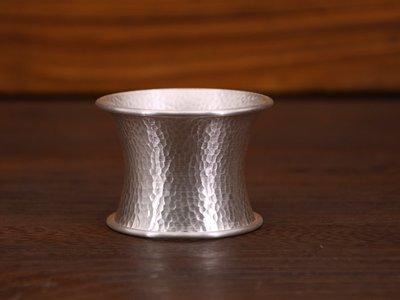 專櫃正品保證~~純銀茶漏托底  手工錐目 杯托