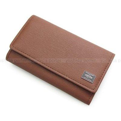 『小胖吉田包』咖啡色預購 日標 PORTER CURRENT 鑰匙包/信用卡夾/證件夾/皮革製◎052-02206◎免運