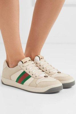 【代購】新品特惠 美鞋 Gucci 洗白 復古 休閒鞋