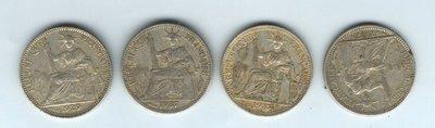 1929、1937年法屬安南-《10CENT》銀幣