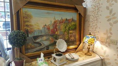 威尼斯河景油畫尺寸80乘110