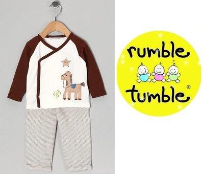 【童心歐美童裝】美國 Rumble Tumble 前開式長袖上衣+長褲二件組 (12M)