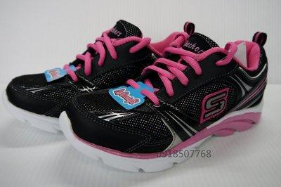 *林口好貨多* Skechers 進口女童鞋 黑粉色