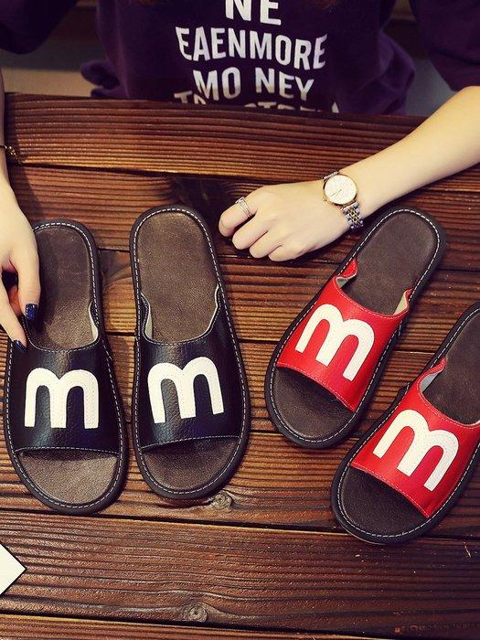 2018新款皮拖鞋情侣家居男女室内防滑木地板居家用凉拖鞋夏季防臭26,27號有粉紅紅色酒紅綠色28號有淺棕色其餘顏色沒有