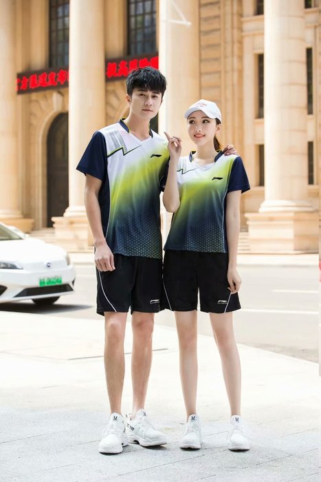 李寧羽球衣勝利 運動褲裙女夏跑步服上衣速幹乒乓球衣男羽毛球套裝