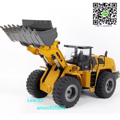 新品 遙控10通道 全金屬 模型遙控 四驅動力 合金挖斗 裝載機 裝載車 挖土機 Bruder 參考
