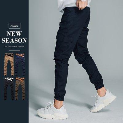 慢跑褲 Jogging Pants側邊大口袋美式工作褲【A88859】縮口褲 束口褲 休閒褲 非PUBLISH
