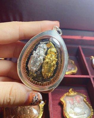 佛牌 佛教 掛鏈龍婆絕 雙面必打 人緣招財避險 銀殼 泰國佛牌真品