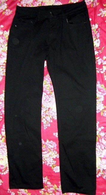 【近全新】超挺潮流黑色窄版工作褲 (32腰XL)