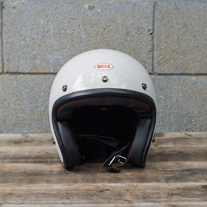 (I LOVE樂多)美國BELL VINTAGE WHITE 4/3安全帽 全車種風格搭配