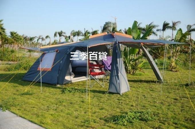 三季戶外必備!超大!雙層帳篷戶外野營4-6人大帳篷戶外一室一廳帳蓬 大帳篷❖534