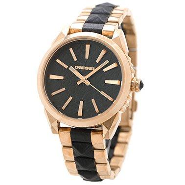 DIESEL DZ5473 手錶 38mm Nuki Ladies 女錶 玫瑰金鍍層 鋼混搭皮錶帶 女錶