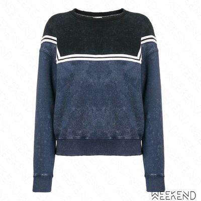 【WEEKEND】 EACH X OTHER 寬鬆 仿舊 背後文字 長袖 上衣 藍色 18秋冬