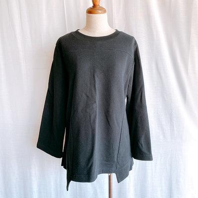平常小姐┋2手┋日本【CABANE de ZUCCa】造型長袖衛衣 黑色 M 下擺造型