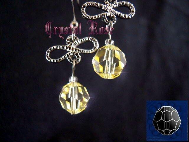 ※水晶玫瑰※ SWAROVSKI 8mm水晶珠 耳勾式針式耳環(DD347)~出清~三對免郵