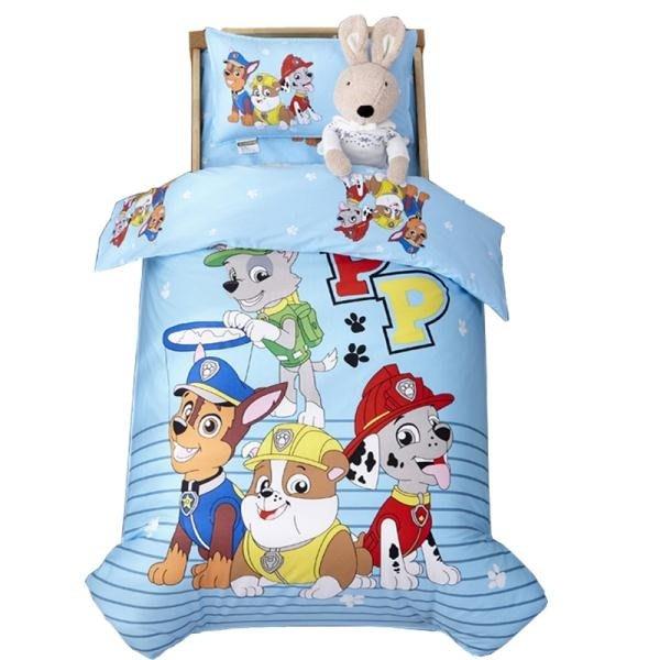 寶寶單件被套純棉幼兒園100%全棉嬰兒童1.2被罩三件套120x150cm秋