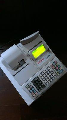 超級棒的(二手/展示機)二聯式發票收銀機/收據機可設定中文品名附操作手冊與保固$8500元直購