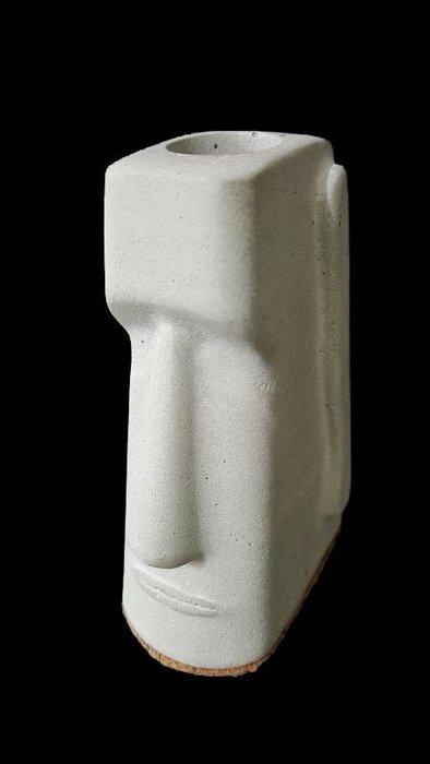 摩艾石像/幾何筆筒.書夾.書擋.文創.療癒.個性化.幾何立體水泥筆筒花盆