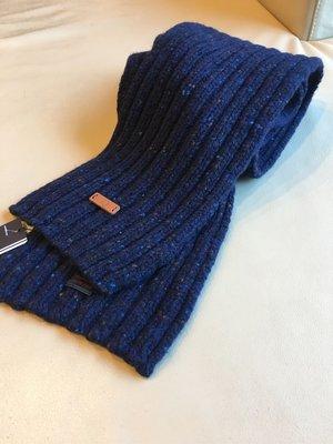 [熊熊之家3]保證全新正品 Fred Perry  深藍色 點狀 圍巾  scotland 製