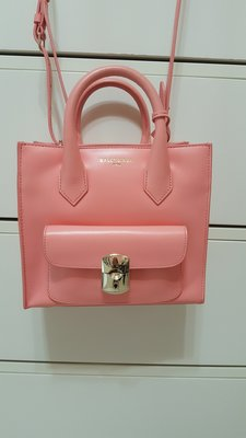 限時降價 巴黎世家Balenciaga Mini padlock all afternoon bag小型鎖頭機車包櫻花粉
