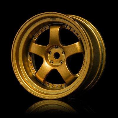創億RC 得隆 MST 102064GD 金色SP1像真甩尾輪框 OFFSET+5