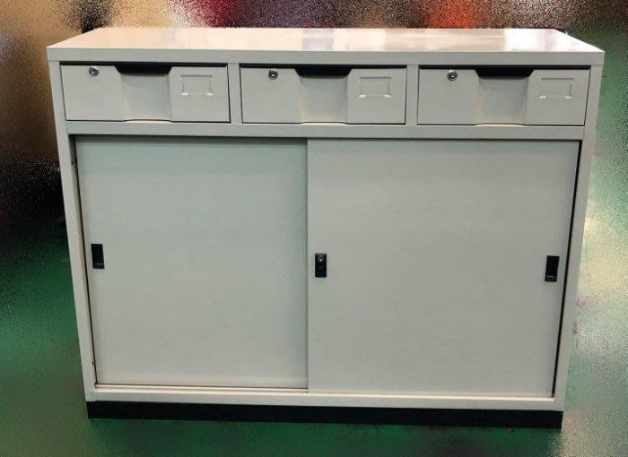 宏品二手傢俱拍賣 全新家具2手價 EA1113BJ*全新中三抽屜鐵櫃 資料櫃 文件櫃*oa辦公傢俱 屏風會議桌 電腦椅
