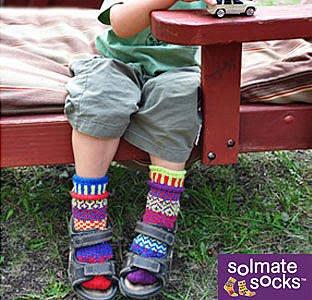 *~Freaky House~*   美國品牌SOLMATE SOCKS KIDS火爆日本的手工編織彩色襪厚襪童襪-美國製