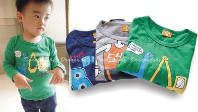 【達搭ㄅㄨˊ寶貝屋】D801685 中大童印花長袖上衣 長袖綿T 長袖 上衣 T恤 休閒 舒適~最後三件