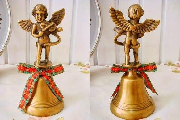 蘇菲亞精品傢飾~外銷歐美銅製蘇格蘭天使手搖鈴/服務鈴/餐鈴/聖誕鈴