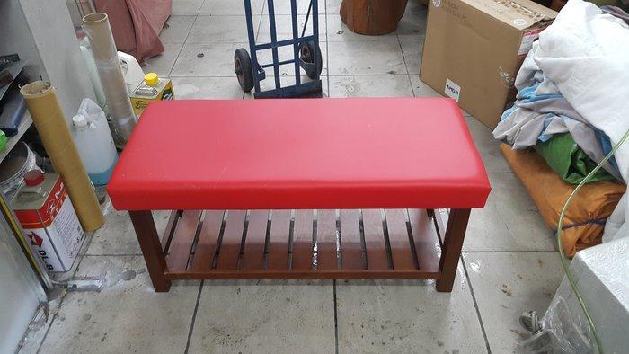 樂居二手傢俱 全新中古家具賣場*A0627AJJE1 全新紅色穿鞋椅(皮)*沙發矮凳 鞋櫃 鞋架 全新中古客廳家具