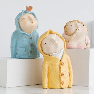 〖洋碼頭〗北歐創意精靈裝飾擺件仿泥塑童話人物擺件客廳臥室裝飾品創意擺設 ybj351
