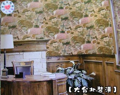 【大台北裝潢】FZ國產現貨壁紙* 船隻明信片 世界地圖(3色) 每支720元