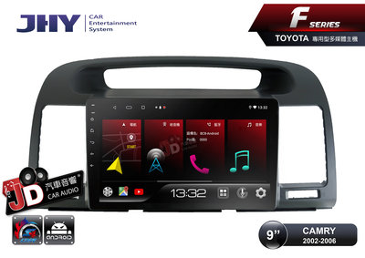 【JD汽車音響】JHY F系列 FD63 TOYOTA CAMRY 2002-2006 9吋專車專用安卓主機 ZLINK